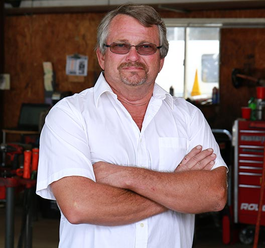 Jerry Johnson, owner of Johnson's Transmission & Auto Service